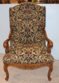 Sherrill Arm Chair With Upholstered Back and Seat
