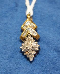 10K Yellow Gold and Diamond Pendant
