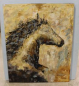 Large Original Oil on Canvas of a Horse