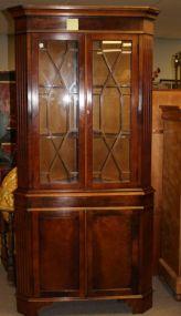Chippendale Style Bracket Foot Corner Cabinet