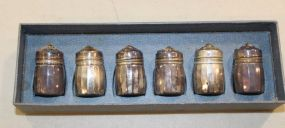 Set of Six Sterling Silver Shakers