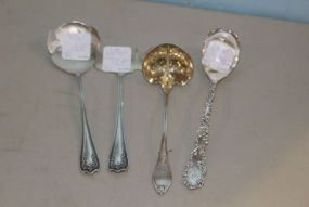 Four Sterling Silver Serving Pieces