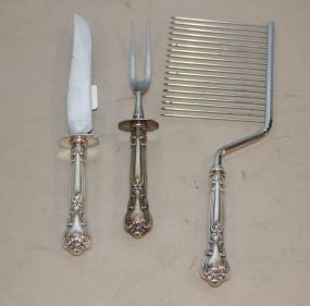 Gorham Chantilly Sterling Handled  Cake Knife, and Carving Set