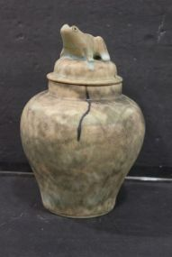 McCarty Lidded Jar with Frog Finial