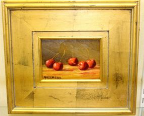 Lucy Mazzaferro Oil Painting of Apples and Blackberries