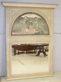 Trumeau Mirror with Bird's Eye View Scene
