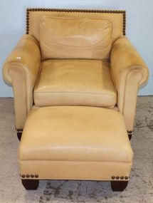 Old Hickory Tannery Chair and Ottoman