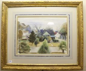 Original Karl Wolfe Watercolor Matted and Framed