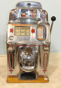 1930s-1940s  Jennings Chief Indian Front Slot Machine