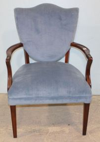 Upholstered Shield Back Chair