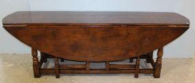 Large Oak Gate Leg Oval  Table