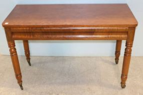 Early Mahogany Console Foyer Table
