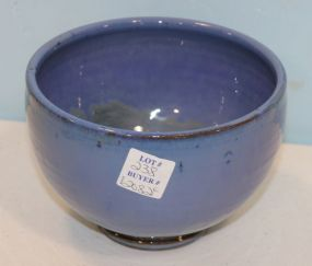 Shearwater Pottery Blue Rain Bowl, Ocean Springs Mississippi