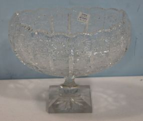Boat Shaped Cut Glass Vase