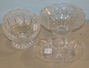 Three Pieces of Cut Glass