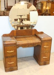 Waterfall Art Deco Inlaid Vanity