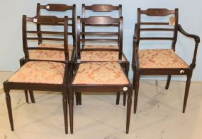Set of Five English Chairs