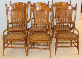 Six Thomasville Cane Back and Seat Chairs