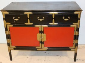 Black and Red Laquered Chest