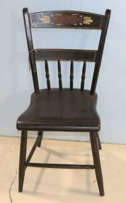 Black Stenciled Chair