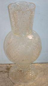 Impressive Tall Cut Glass Vase