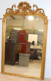 Over Mantle Mirror with Water Gilding