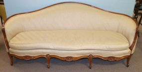 French Pleated Upholstered  Settee