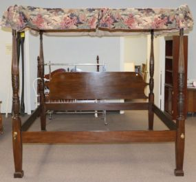King Size Drexel Heritage 18th Century Classics Rice Bed with Canopy