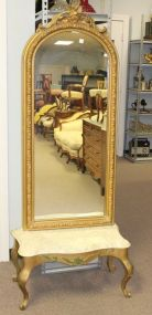 Pier Mirror with Marble Top Base