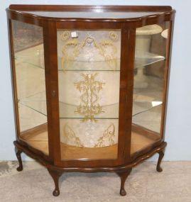 Walnut Queen Anne Curio Cabinet