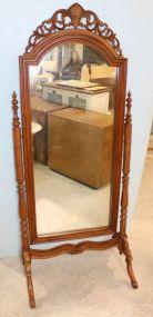 Mahogany Carved Chevel Mirror