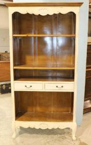 French Style Open Front Bookcase