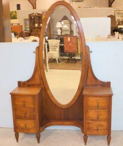 Mahogany Vanity with Chevel Mirror