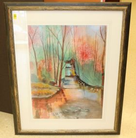 Paula Temple Signed Watercolor