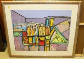 Paul Crimi Original Pastel Matted and Framed