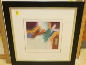 Ann Dergara Matted and Framed Original Abstract Art Signed