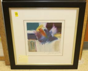 Ann Degara Matted and Framed Original Abstract Art Signed