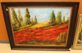 Unsigned Oil on Canvas Framed