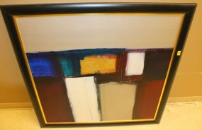 Original Abstract on Canvas Board