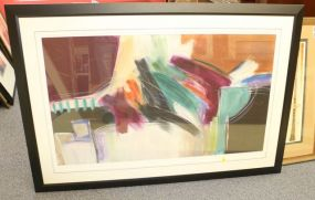 Large Ann Degara Abstract Pastel