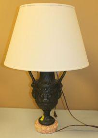 Lion Head Urn Style Lamp