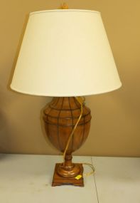 Leather Urn Shaped Lamp