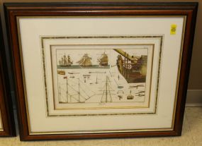 Matted and Framed Colored Engraving