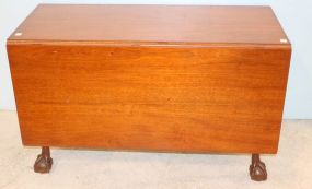 Mahogany Claw and Ball Drop Leaf Table
