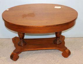Oval Empire Mahogany Coffee Table