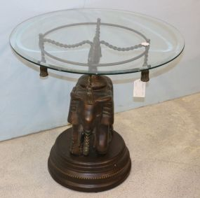 Elephant Table with Glass Top