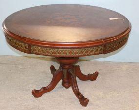 Mahogany Inlaid Round Table
