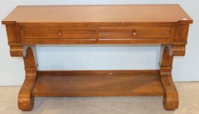 Mahogany Empire Server with Two Drawers