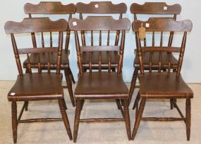 Six Hand Painted Chairs