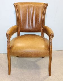 French Leather Arm Chair